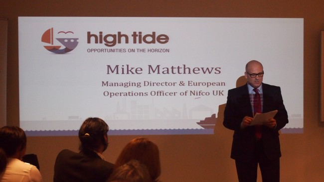 Mike Matthews of Nifco at High Tide Foundation event