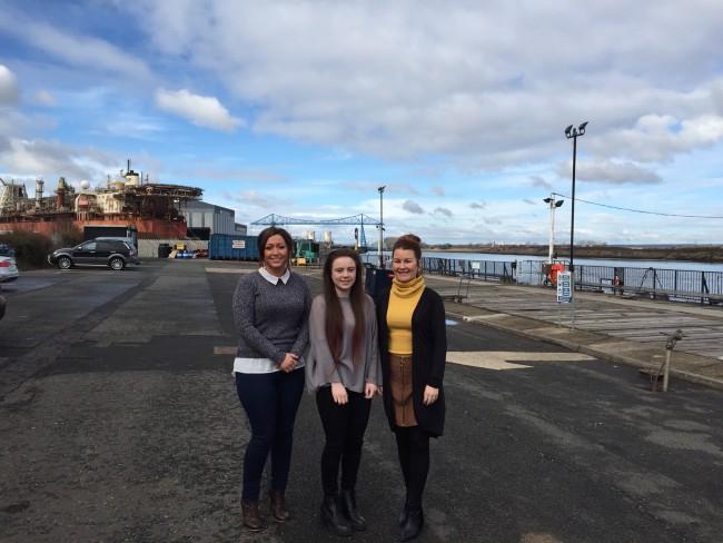 Lauren Bywater, Lauren Jackson and Kim Upex High Tide Foundation